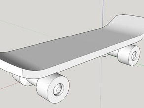 Skateboard with 4 independently rotate wheels