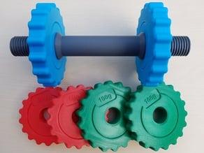Compact adjustable dumbbells