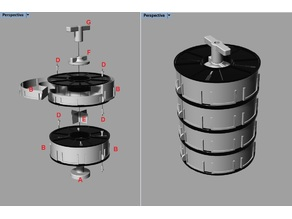 Cajonera de Bobinas Divisibles Apilables /// Stackable Spool Drawer /// (1/2-1/3-1/4) Grilon3 1kg Argentina