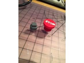 Miniature E-stop Button Cap