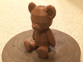 Low poly Teddy bear