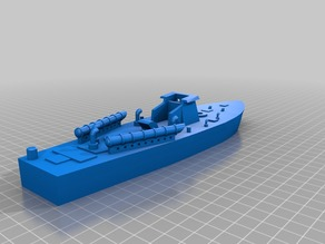 1/100 late-war Vosper Type II  Motor Torpedo Boat (MTB) with 6-pdr