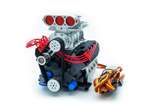 DDW 1/10 RC OHV V8 H Supercharger Engine