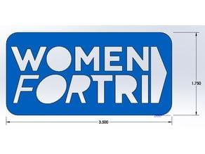 Women for Tri, Small Tri-Tat, Stencil