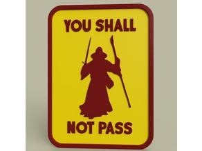Gandalf - You shall not pass No1
