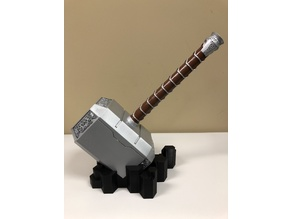 Abstract Stand for Life Size Thor's Hammer (Mjolnir)