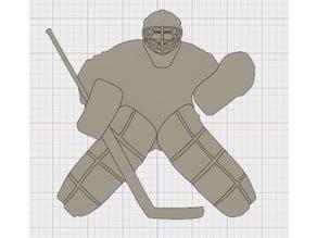(Hockey) Goaltender Silhouette Wall Decorations