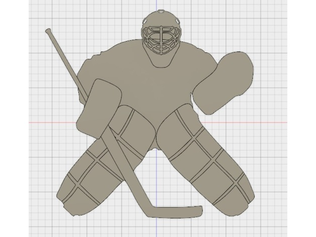 Hockey Goaltender Silhouette Wall Decorations By Affordable3d