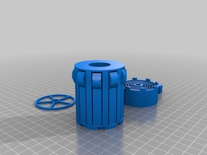 Auto-Rewind Spool Holder for Rubbermaid Spool Stand