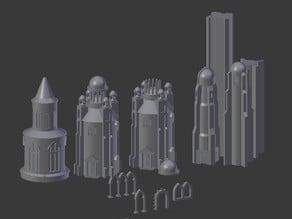 minas tirith batiments & architecture diorama vol. 2