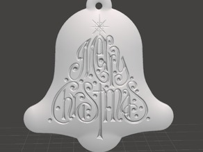 Christmas Tree Ornament - Bell Tree Merry Christmas