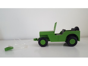 Willy's Jeep WWII - Kids Pull Toy