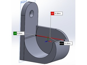 Support barre rideaux 35mm avec ou sans écartement