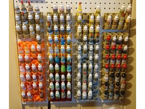 Pegboard paint bottle holder v 9