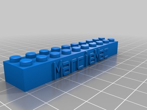 My Customized Lego Block Necklace/Keychain