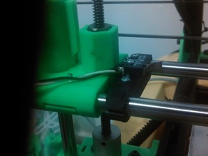 clamp style x end stop for 10mm rails on 50mm centers
