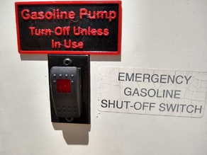 Fueling Station Pump Switch Label