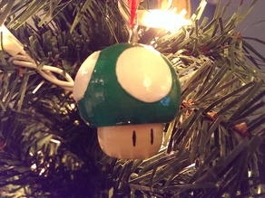 Super Mario Mushroom 1up Tree Ornament