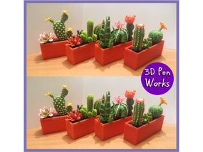3d pen: Succulents and cacti
