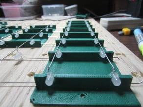 8x8x8 Blue LED Cube vertical jig