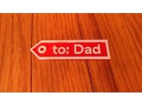 Customizable Gift Tag