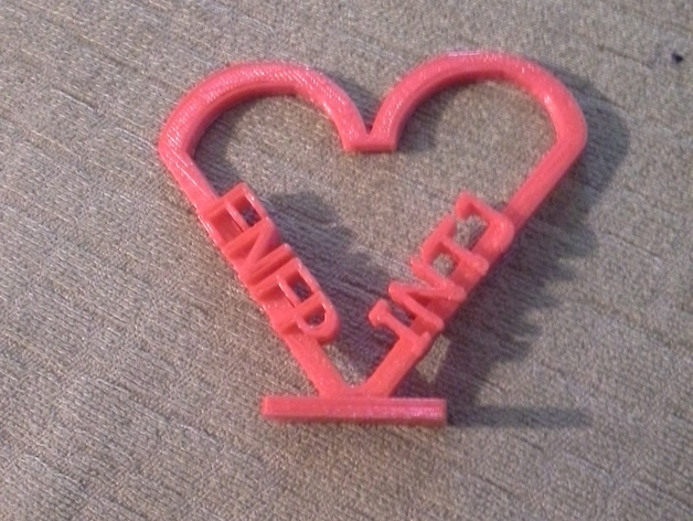 Heart INTJ ENFP by staypatrick - Thingiverse