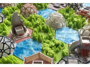 Forest tiles for Terraforming Mars game