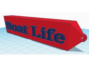 "Floating ""Boat Life"" Keychain (suggestions welcome)"