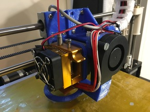Anet A8 direct drive replacement/extension carriage (MK8 extruder compatible)