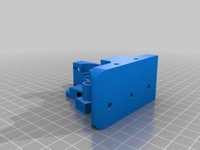 Cuerpo del extrusor mejorado para filamentos flexibles 3mm  -impresora Prusa i3-  Remix del Greg's Wade reloaded