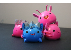 Slime Rancher Largos! - Pink Rock, Pink Tabby, Rock Tabby, Pink Phosphor