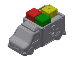 Dice Hospital Ambulance Miniature for Dice Drafting