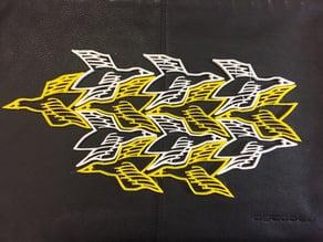 MC Escher Bird (Maths Tessellation)