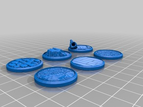 Miniature Bases - Set 3 (25mm - 35mm figures)