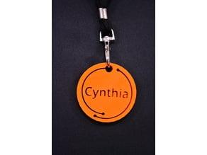 Cynthia name tag