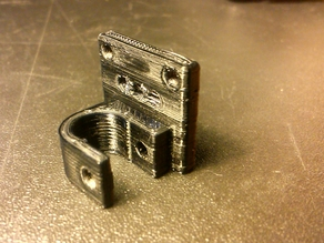 Smooth rod clamp holder for MakerBot Mech Endstop v1.2