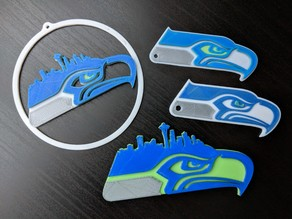 Seattle Seahawks Ornament, Keychain, and Magnet