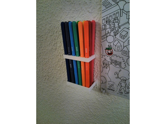 Wall Mount Pen Holder By Jon2184 Thingiverse