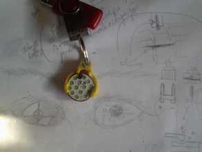 Coin holder tool Keyring