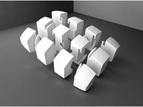Pillowed 1x3x4 cuboid