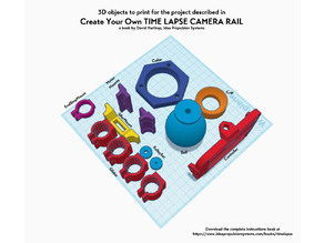 Objects for the project described in the book Create Your Own TIME LAPSE CAMERA RAIL