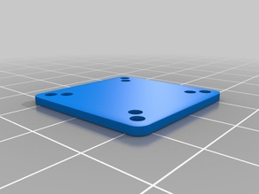 Simple 20x20 to 16x16 flight controller plate