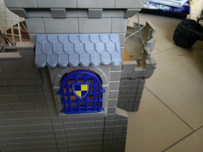 Window rooftop for Playmobil castle 3268