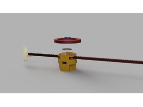 Linear actuator with the cheap 28BYJ-48 Steppermotor for litle cabinet doors