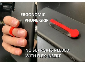 Ergonomic Phone grip - handygrip easy print