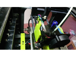 Anet A3 extruder cable relief