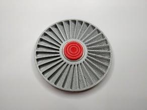 Jet Turbine Fan Fidget Spinner