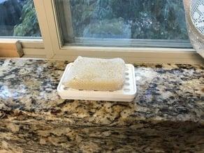 Dish scrubber holder