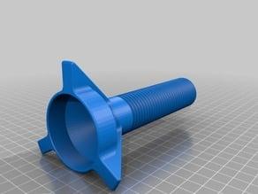 Vertical filament spool holder for delta printer