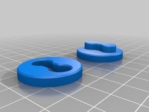 "XYZ Calibration circle with ""O=O"" pattern"